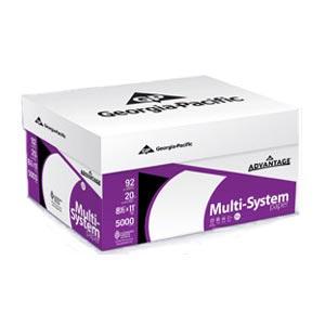 georgia pacific advantage multi system paper letter size 20 lb