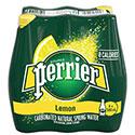 Perrier Carbonated Natural Spring Water, Lemon - 6/500mL