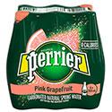 Perrier Carbonated Natural Spring Water, Pink Grapefruit - 6/500mL