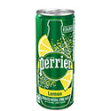 Perrier Slim Cans, Lemon - 10/250mL
