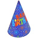 Happy Birthday Party Hats - 6ct