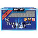 Kirkland Signature Crystal Clear Cutlery - 360ct