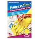 Princess Picot Medium Latex Multi-purpose Rubber Gloves - 12 Count