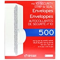 Top Flight PSTF10NWT #10 Envelopes, Strip & Seal, Security Tinted, White Paper, 24Lb - 500 ct